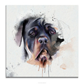 Funny Dog Watercolor Painting Canvas Art Prints Wholesale Ready to Hang on Wall Office and Home Wall Decor