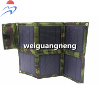 15W/5V Outdoor Solar Panel USB Charger Battery Power bank Folding Solar Charging Bag For Moible Phone Camping Travel