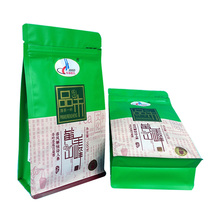 Custom printing stand up packaging pouch tea packaging quad seal bag
