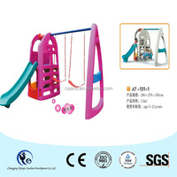 Day Care Center Toy Equipment Slides Double Swings for Boys and Girls