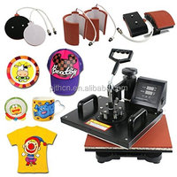SuperDeal Pro 6in1 Combo Heat Press T-shirt Dual Digital Transfer Multifunction Sublimation Machine