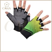 Gradiation Printing Half Finger Sublimation Gel Sports Biking Glove/Cycling Glove