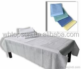 Disposable non woven bed sheet/hospital disposable bed sheet rolls/smooth paper roll