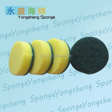 Round kitchen mesh sponge and cleaning scrubber