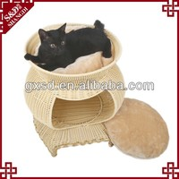 S&D handmade lovely rattan sofa shaped pet tent beds