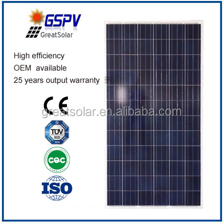 Hot sale ! High efficiency and good quality 300w Solar Panel