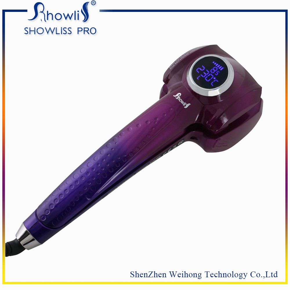 Purple gradient MCH automatic titanium hair curler for hair styling tool