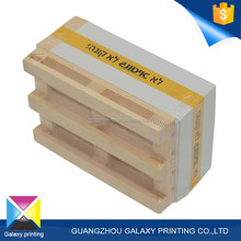 Square shape customized sticky wooden pallet memo pad cube notepad with logo printed