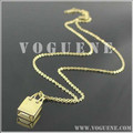bag pendant yellow gold chain stainless steel necklace