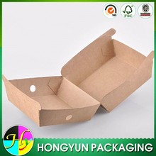 hot sale popular customized eco-friendly cardboard box for hamburger