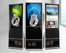 42 inch LCD floor standing AD totem video display with shoe polisher clean machine