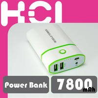 7800mAh Portable External Battery Charger USB Power Bank with LED Light