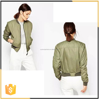 Wholesale online 2016 New Fashion MA-1 Lady Girl Women Plain Quilted Padded Bomber Jacket