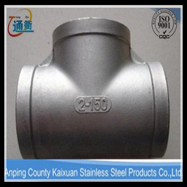"made in china casting stainless steel fitting 1 1/4"" tee bsp from hebei"