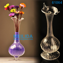 New design long neck antique murano art glass vase