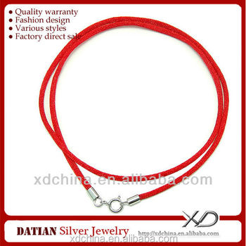 XD MT014 2.0mm Corean velvet cords with 925 sterling silver spring ring clasp velvet necklace cord