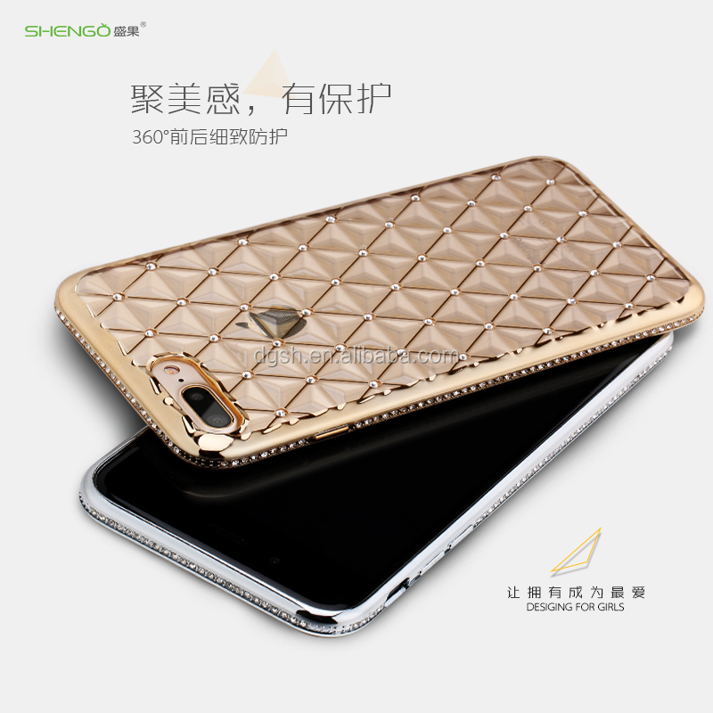Pomational shimmering powder pc tpu 3d transparent mobile cell phone case for Phone mobile