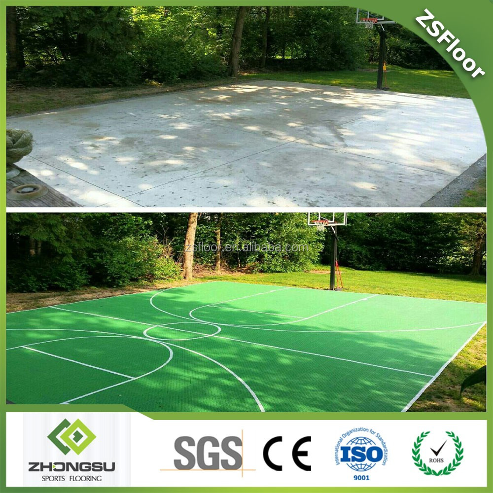 Portable tennis/badminton/volleyball/basketball/futsal court sports flooring