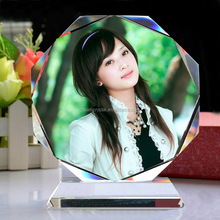 Customized personality DIY digital Crystal Photo Frame for gifts