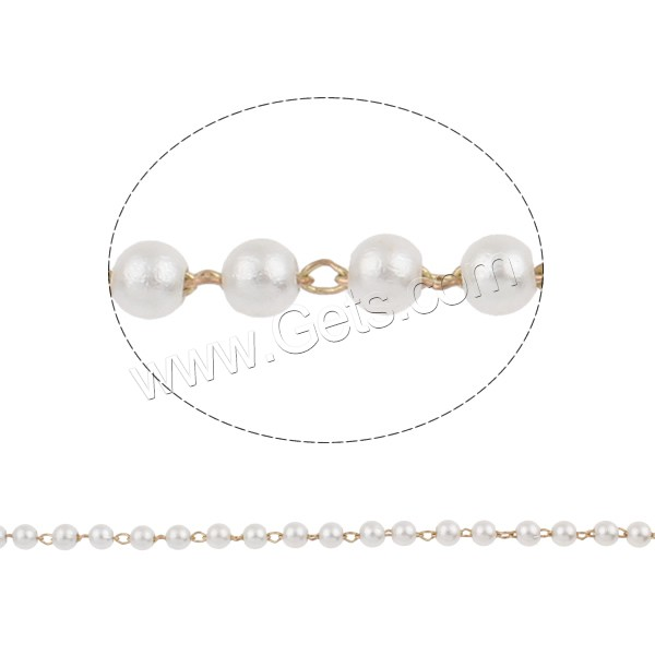 Plastic Pearl Round Pearl Beaded Neckline 918491
