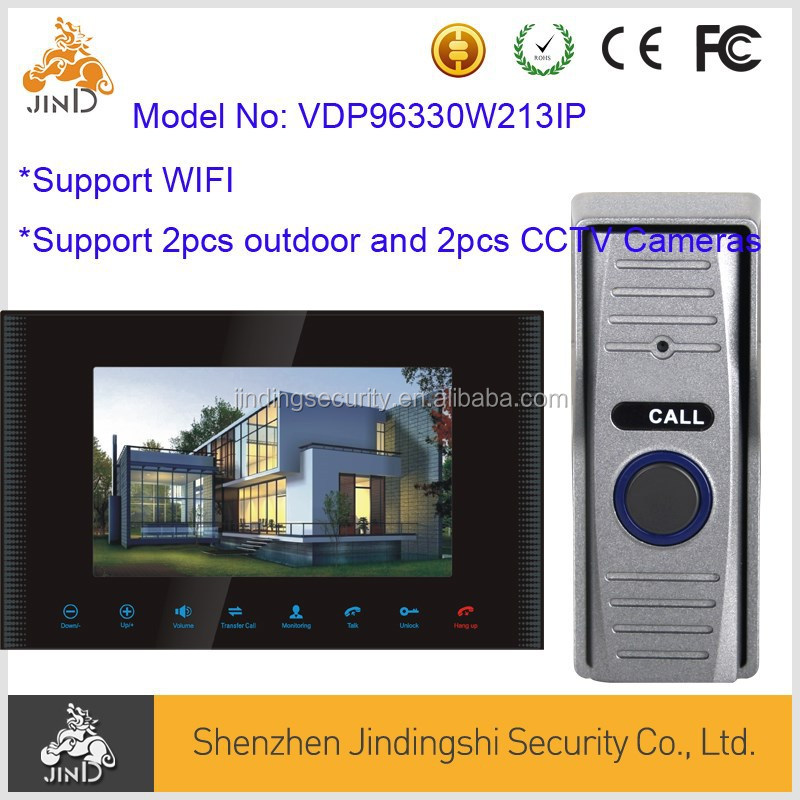 WIFI IP Video Door Phone suport Mobile phone and Tablet Unlock, monitoring, talking