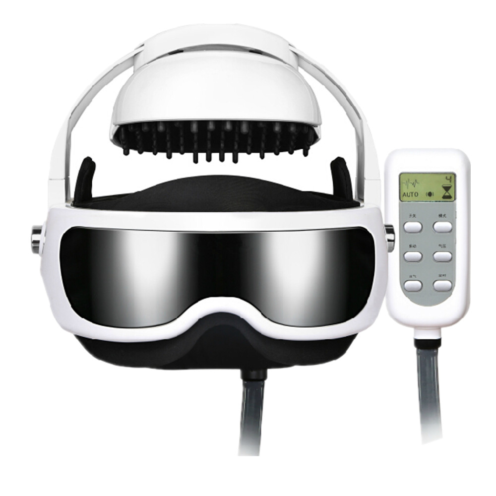 As seen on TV HOT Air Pressure Heated Acupuncture acupoint relieve headache electronic vibrating automatic head massager