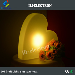 Heart shaped PE plastic rechargeable LED decorative light