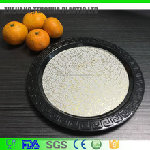 New Design Cheap Round Plastic Plate Fruit Tray Decorative Plate With Print