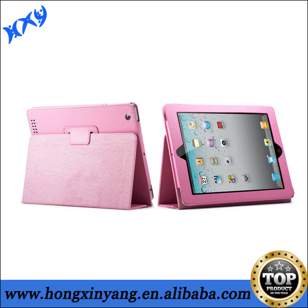Book Style Tablet PC Lichee Leather Case for iPad Air.