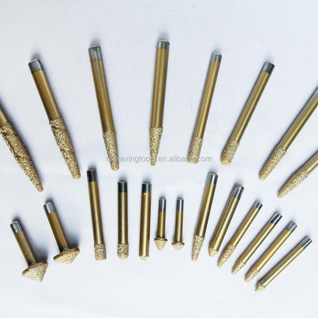 Stone Engraving Machine Cutter Stone Cutting Bits CNC carving tool Electroplated diamond router bits for granite