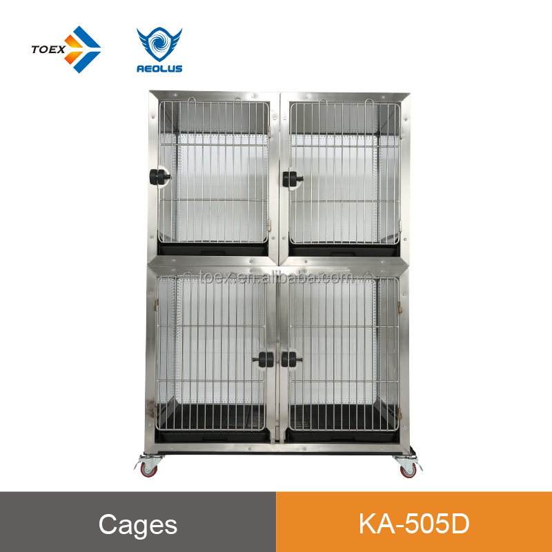 delux dog house tempered glass several cages combination display stainless steel durable scratch-resistnt cage