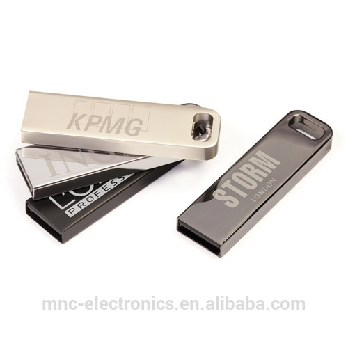 Stainless steel material premium promotion gift custom laser engraved metal case 4GB usb stick