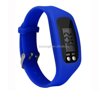Mini Digital Silicone Sport Bracelet pedometer with Step counter function