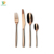 304 S/S Mirror Polishing Bulk Rose Gold Plated Cutlery Used Restaurant Flatware
