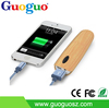 2016 universal portable wood print charger power bank china supplier mobile phone charger