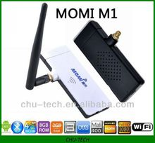 Momi M1 RK3188 Quad-core ARM Cortex-A9 1.6GHz 2G DDR3 Ram 8G Rom Android 4.1 Bluetooth WIFI HDMI Android Mini PC Google TV Box