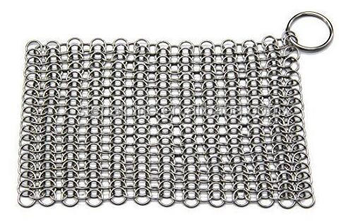 Top-quality chainmail/LauKingdom Cast Iron Cleaner