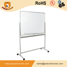 Mobile magnetic glass board and dry erase ceramic whiteboard with clip, aluminum frame all sizes