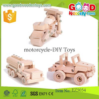 2015 New and Popular Kids Wooden Toy Motorcycle,Childrens Accessory Set Motorcycle-DIY Toys