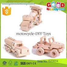 2017 New and Popular Kids Wooden Toy Motorcycle,Childrens Accessory Set Motorcycle-DIY Toys