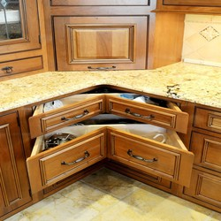 Produce Gold Granite Countertop Luxury Kitchen Cabinet Paint Units In Warehouse(sapiential )