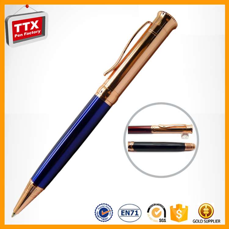 Promotional pen with logo,the newest style high quality promotional twist ballpoint pen metal