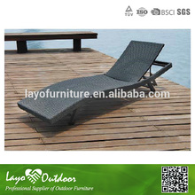 ISO9001 Approvaled Factory portable table outdoor white rattan lounger
