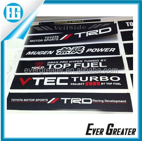 Custom sticker for car die cut stickers private label carbon fiber stickers