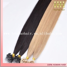 Best quality no shedding no tangle top grade wholesale price micro ring hair extensions for blacks