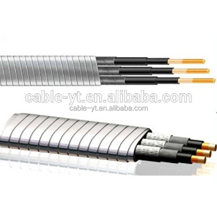 Galvanized Steel taped AWG standard ESP submersible pump cable EPDM insulation
