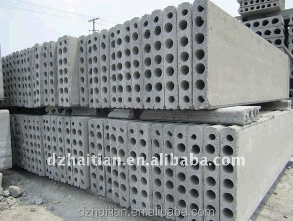 Best performance prestressed floor roof slab slipforming equipment concrete hollow core slab making machine