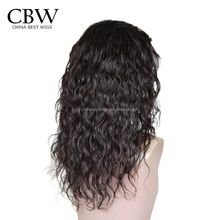 150% Density Virgin human Indian Remy Hair Unprocessed Glueless Lace Front Wig for women