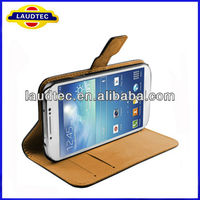 Genuine Real Leather Wallet case for Samsung Galaxy S4 Mini i9190,Galaxy S4 mini leather case----Laudtec