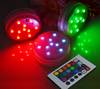 Wedding Event Multicolor Remote Controlled Submersible Led Light